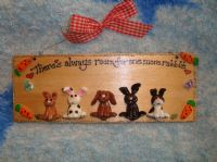 5 character 3d Bunny Sign Any Phrasing Personalised & Customised Plaque Handmade To Order There's Always Room For One More Rabbit